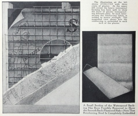 Detail of page 6. Better Wall For Better Homes. National Steel Fabric Corporation. Pittsburgh, PA 1927