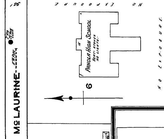 Panola High School. Sardis, Panola County. Sanborn Map Dec