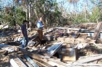 Debris pile. Charnley Norwood House. Ocean Springs Jackson County. MDAH 11-30-2005 from MDAH HRI db accessed 8-24-2014