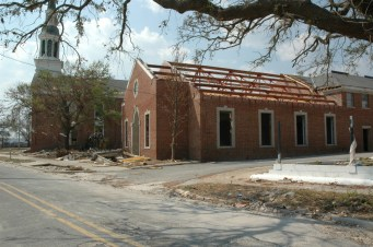 East elevation First Presbyterian Church Gulfport Harrison County MDAH9-25-2005 from MDAH HRI db accessed 8-24-2014