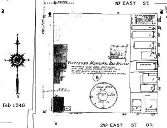 1948 Sanborn Map Vicksburg