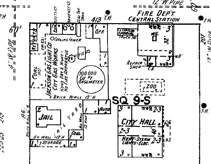 Jackson Gas Light Co. City Gas Works Nov. 1918