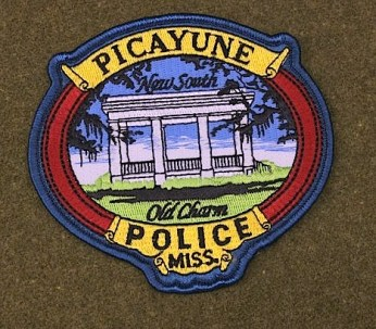 Police Patch embroidered with an image of Wagner's Read Park Pavilion.