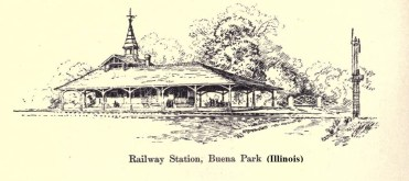 Railway Station, Buena Park, Il. from 1896 book John Wellborn Root: A Study of His Life and Work by Harriet Monroe