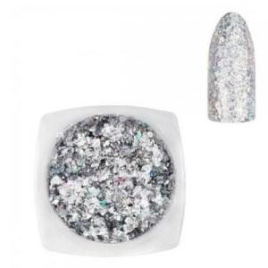 Glitter Flakes Holo Silver