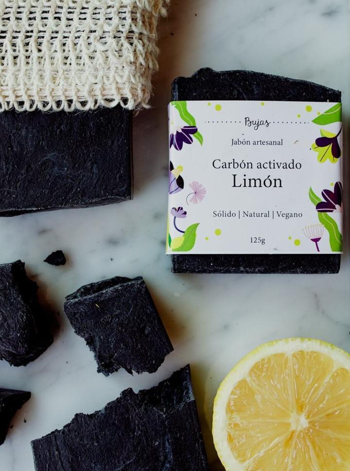Jabón de Carbón activado y Limón