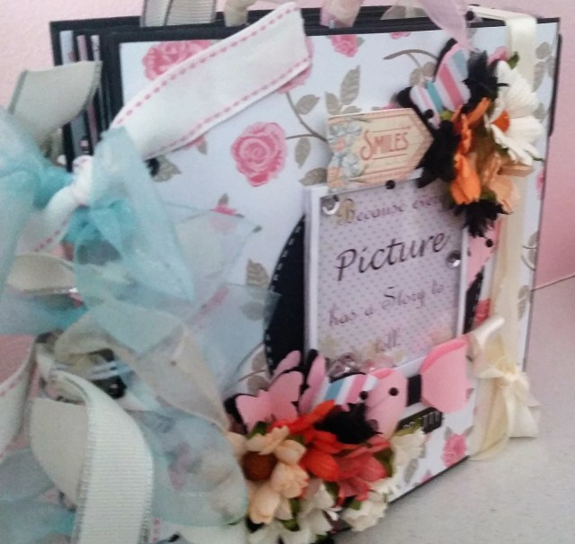 Shabby Chic Mini Album Side View