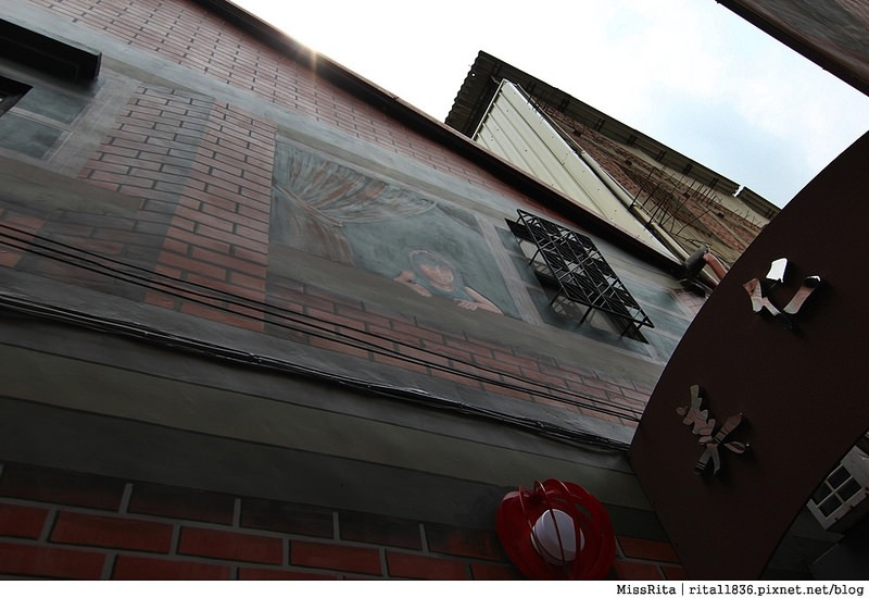 台中沙鹿好玩 沙鹿彩繪 沙鹿美仁里 沙鹿彩繪村 沙鹿美仁里彩繪 50年前的巷道14
