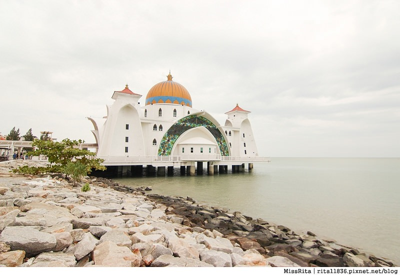 馬來西亞 麻六甲 馬六甲景點 Malacca Straits Mosque 清真寺 海上清真寺 Masjid Selat Melaka Pulau Melaka4