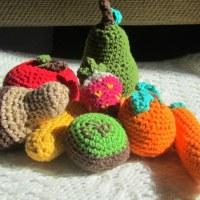 Frutas de ganchillo