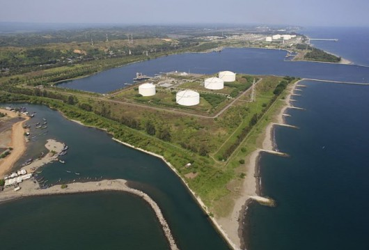 LNG Storage Tanks at Arun - All of them (4 tanks) are secondary containment type storage tank