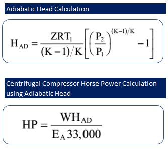 Centrifugal Compressor Power Calculation