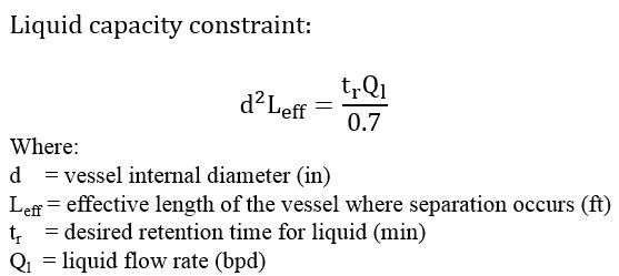 Liquid capacity constraint
