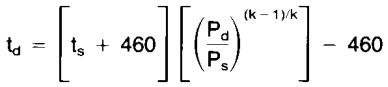 Equation to estimate discharge temperature