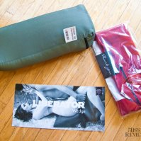In the box: compressed wedge, cover, and instructions