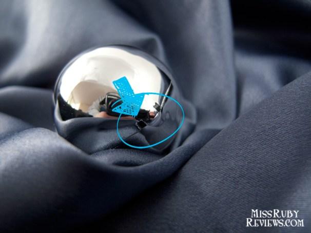 Strange square holes in one of the plastic balls