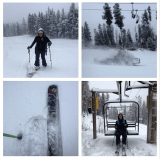 Earlybird worm catching this morning! Its a pow day in Breck and the scroggin is deep.