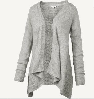Penny Pointelle Waterfall cardigan Was £45 Now £25