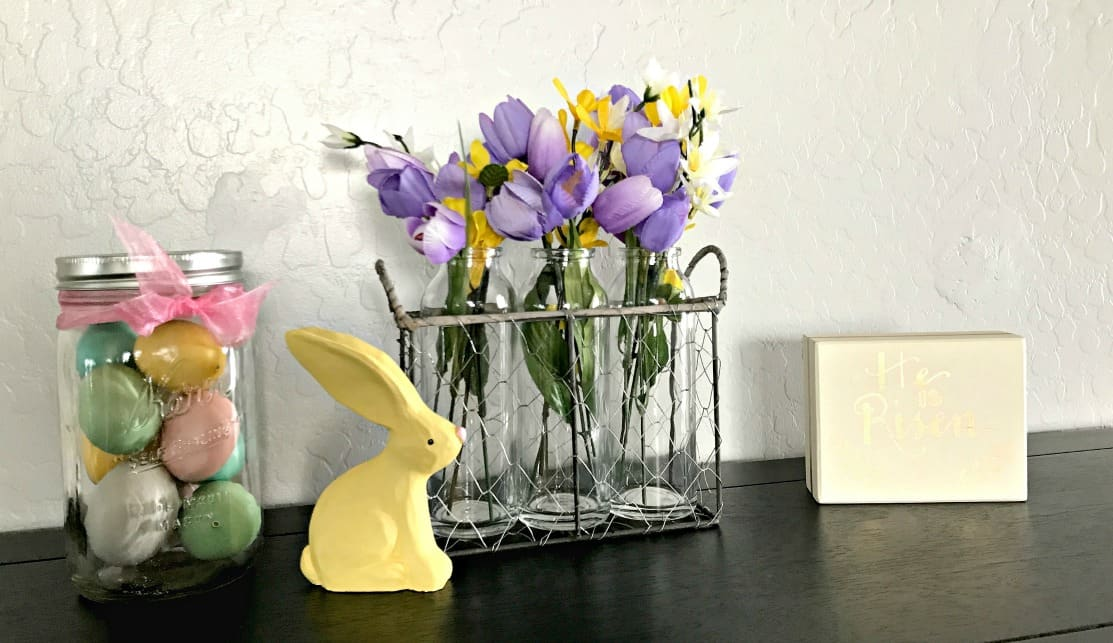 simple spring entry decorations