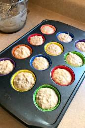 Quick Banana Oat Muffins