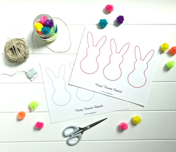 bunny banner supplies