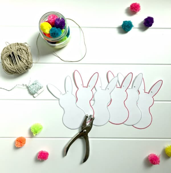 bunny banner cut-outs