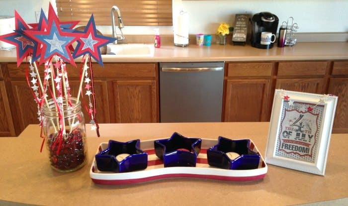 DIY Patriotic Star Wands 4th of July Display
