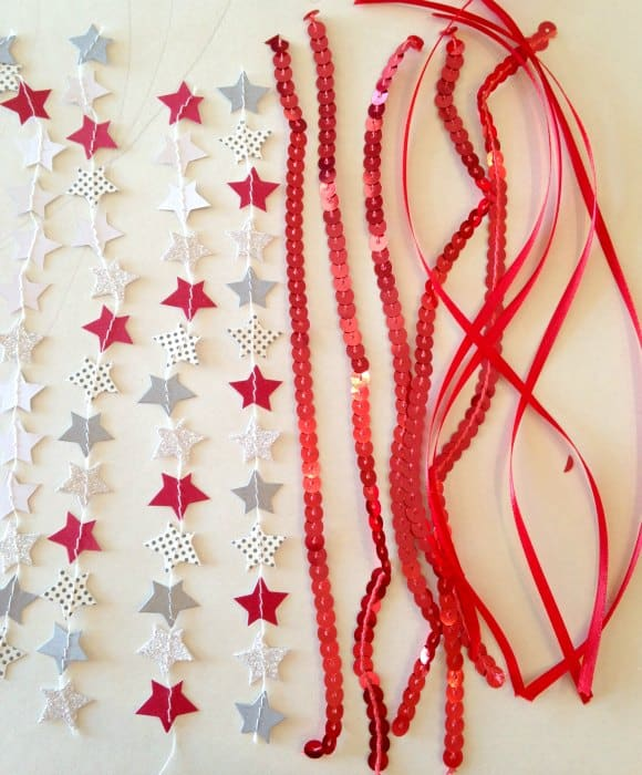 DIY Patriotic Star Wands ribbons
