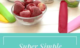 Super Simple Strawberries and Cream Popsicles