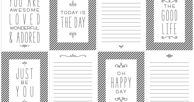 FREE Printables » Any Day Journal Cards