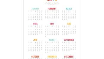 free 5x7 colorful 2015 calendar printables