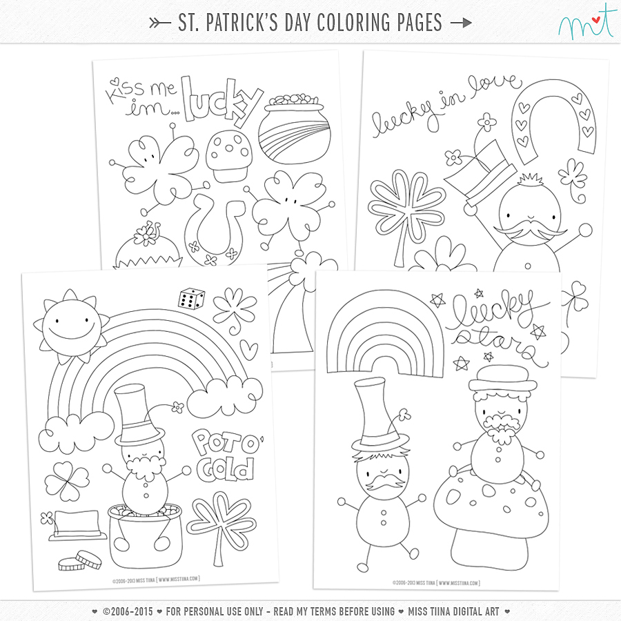 Free St Patrick S Day Coloring Pages Misstiina Com