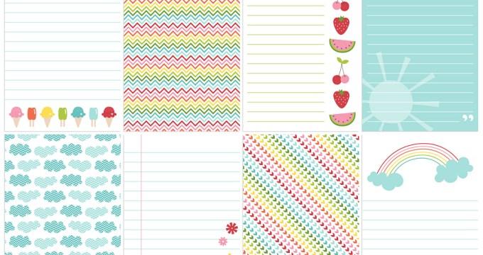 FREE Printables » Sweet Summer Journal Cards
