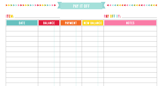 FREE Account Info + Date Night Planner Page Printables