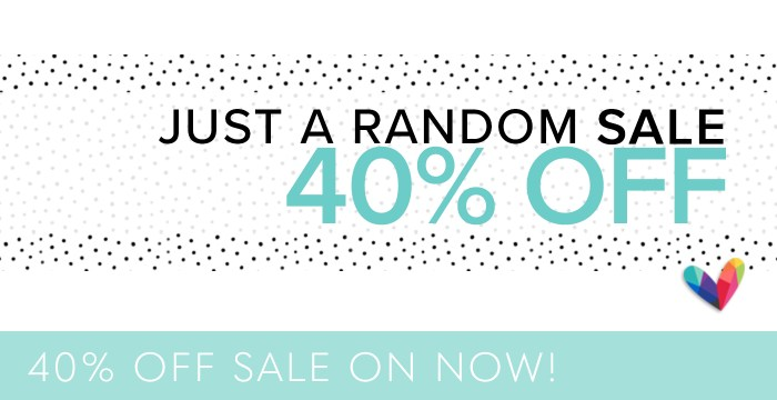 40% OFF SALE ON NOW
