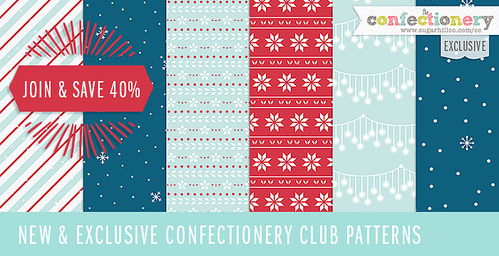 NEW and EXCLUSIVE Snowy Christmas Patterns
