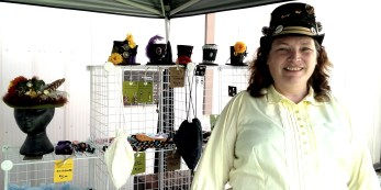 Vendor Chris Rose from Trusham's Millinery