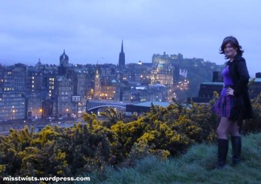 autumn evening in Edinburgh