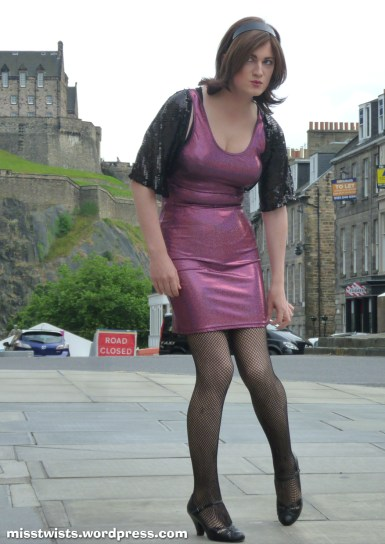 There is nowhere to hide in a dress this tight...
