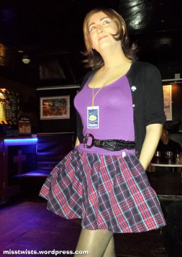 It took about three years to realise this skirt had pockets; this captures the moment.