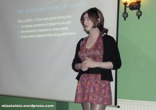 In which I speak brainily to Newcastle Skeptics about cross-dressing...