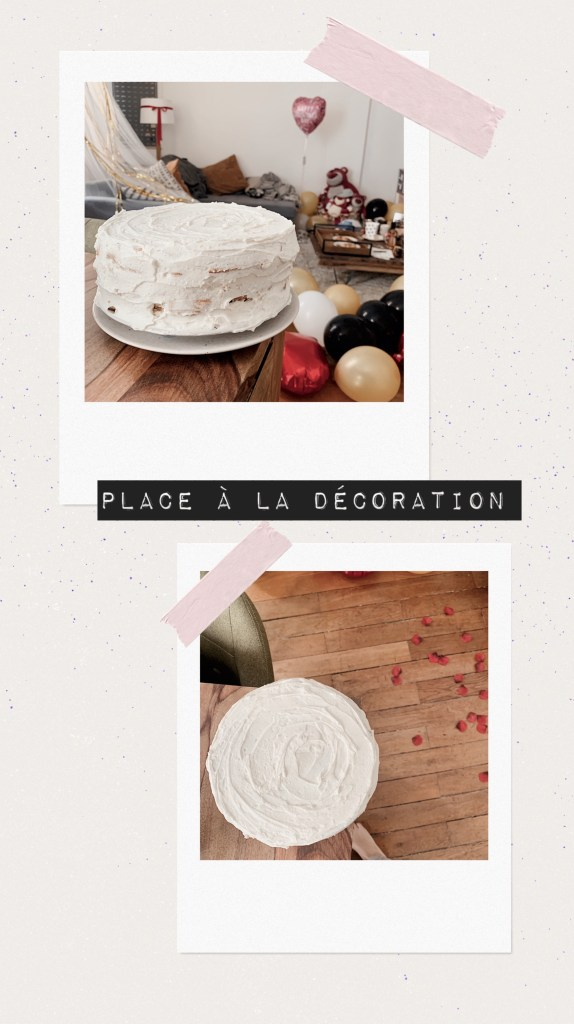 décoration naked cake
