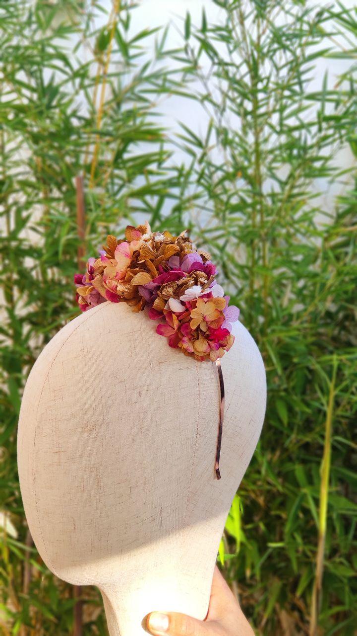 corona flor preservada
