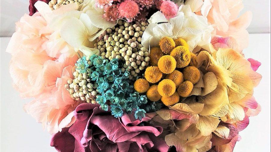 Detalle Ramo de novia flores preservadas Coco Pink2