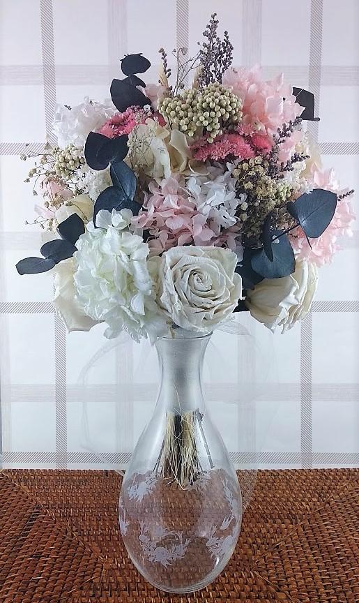 Ramo de novia de flores preservadas Adriana