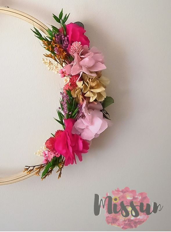 bastidor flor preservada.