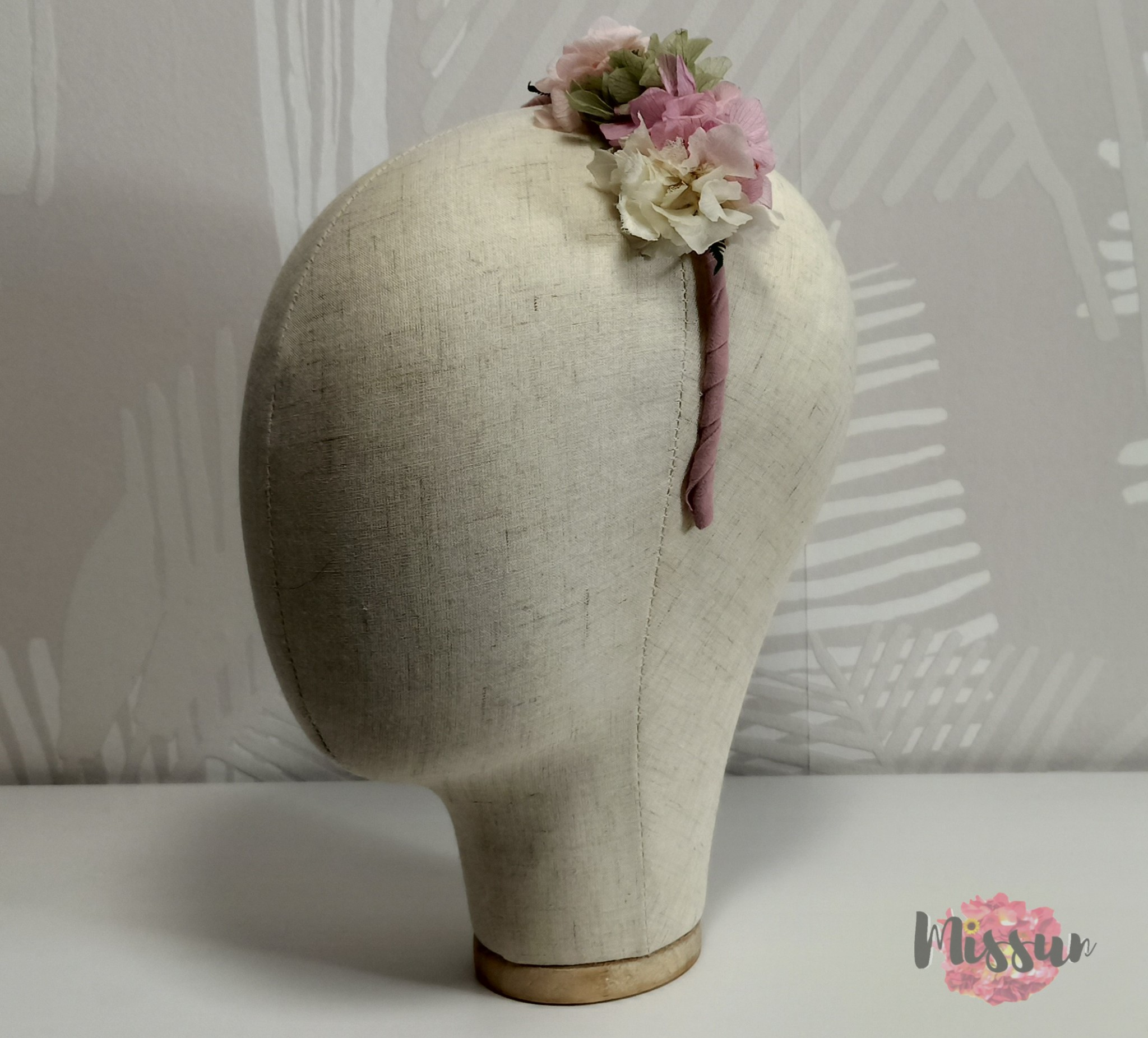 diadema May flor preservada