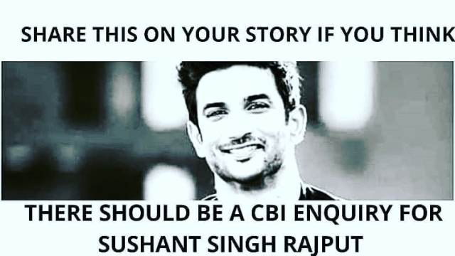 We want CBI Enquiry for Sushant Singh Rajput