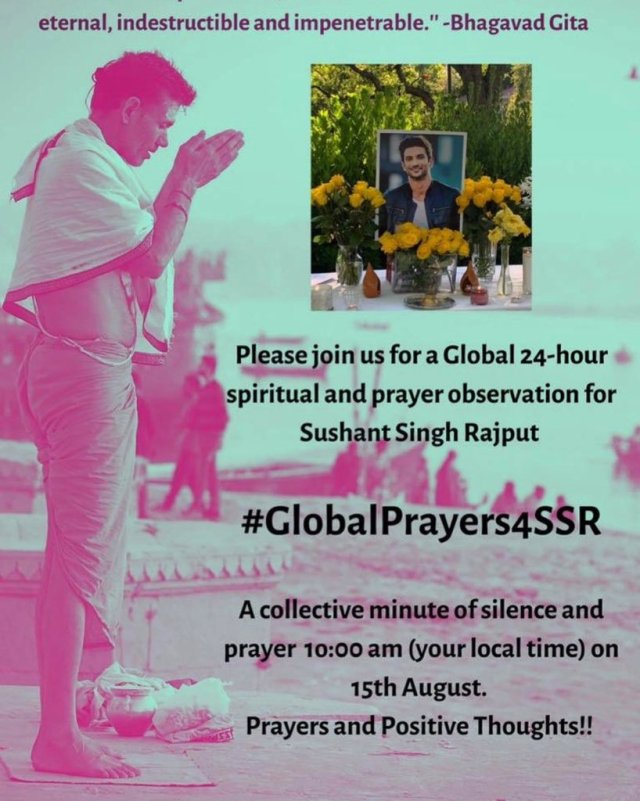 Global Prayers for SSR – Sushant Singh Rajput