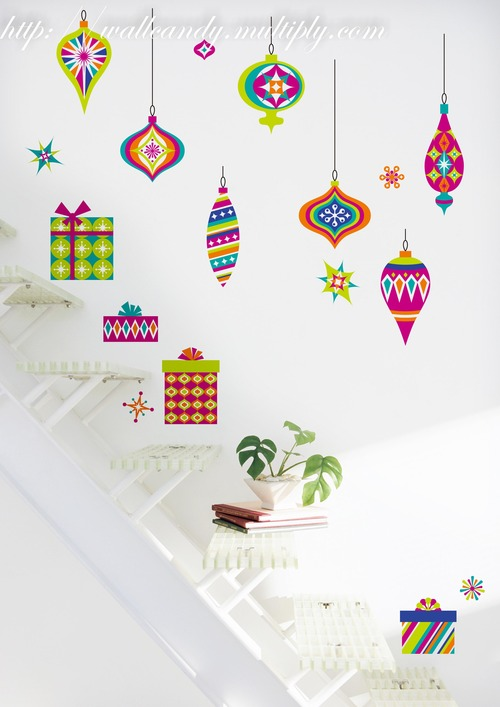 Wall Candy Art Stickers Christmas designs - Miss Valerie Tan